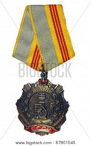 Order Of Labour Glory 3St On A White Background