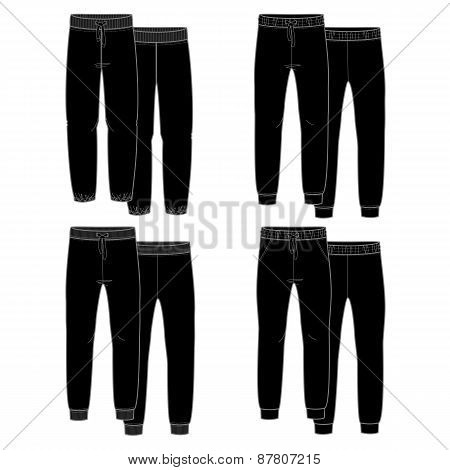 Girls trousers. Black
