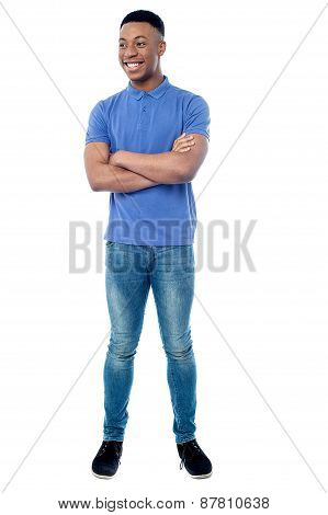 Casual Man Isolated Over White