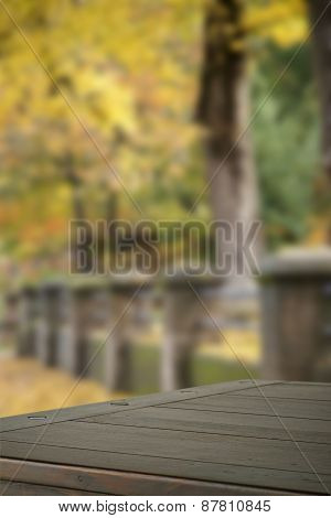 Wooden Tabletop With Background