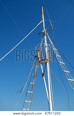 Part of traditional Greek fishing boat