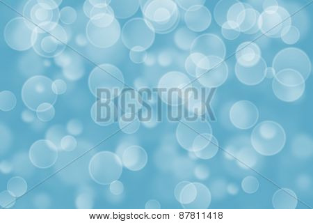 blue circle shape boke background