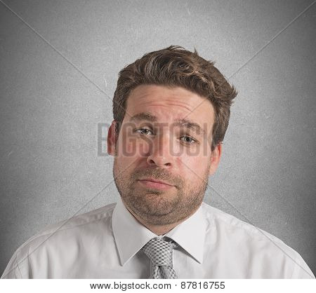 Upset businessman