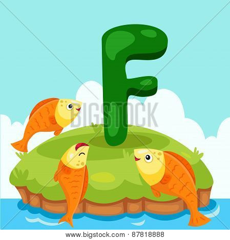 Illustrator of Letter 'F is for fish'