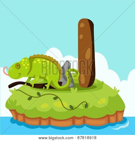 Illustrator of Letter 'I is for Iguana'
