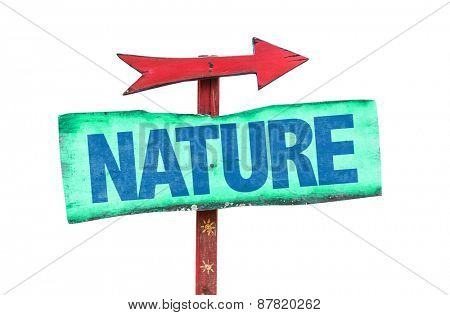 Nature sign isolated on white