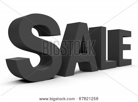 Sale - Black 3D Letters Isolated On White