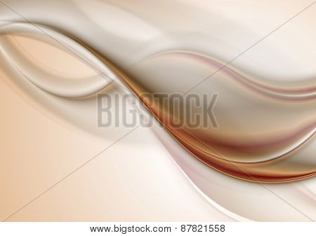 Abstract elegant smooth waves background. Vector design