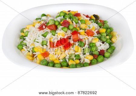 Vegetable Mix In Plate