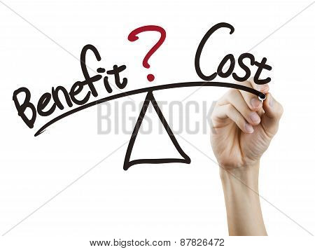Balance Between Benefit And Cost Written By Hand