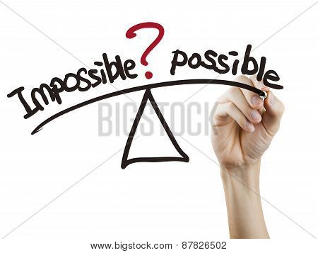 Balance Between Impossible And Possible Written By Hand