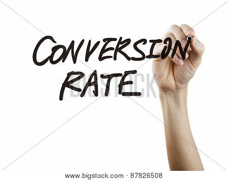 Conversion Rate Words Written By Hand
