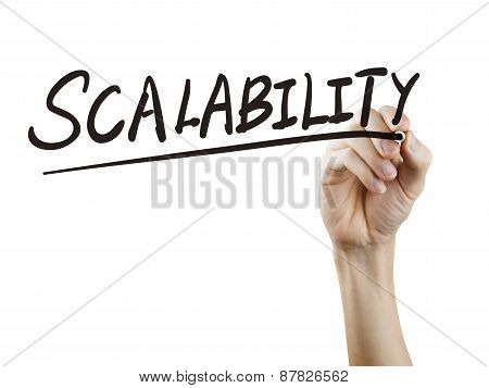 Scalability Word Written By Hand