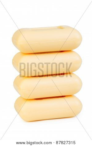 Stack Of Yellow Soap
