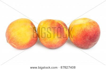 Row Of Ripe Peaches