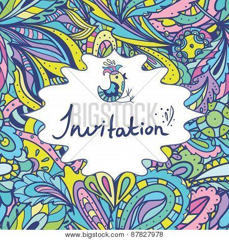 Colorful Summer Invitation Template