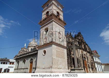 La Merced Church Dating From 1534 In The Colonial City Of Granada, Nicaragua, Central America