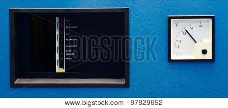 Alarm Panel With Pointer Voltmeter