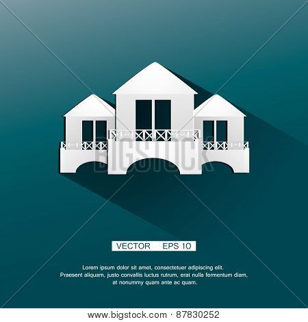 Homely logo template. Nice symbol representing a small house, ideal for real estate, travel agencies