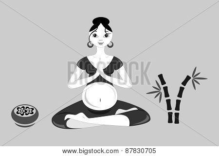 Yoga  Pregnant Women Black