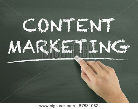 Content Marketing Words Written By Hand