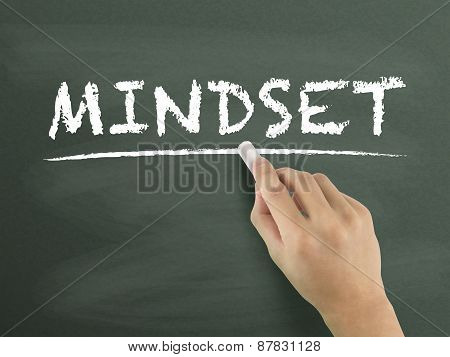 Mindset Word Written By Hand