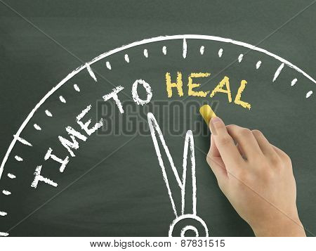 Time To Heal Written By Hand