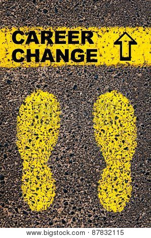 Career Change And Arrow Pointing Upwards. Conceptual Image