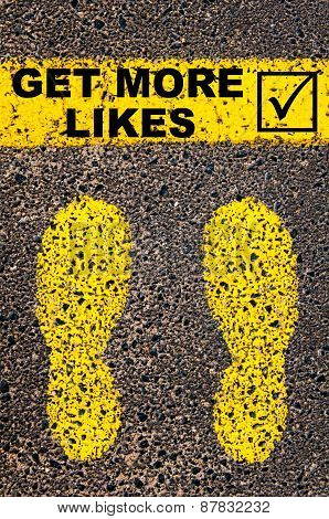 Get More Likes And Check Mark Sign. Conceptual Image