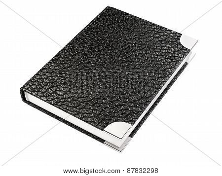 Closed Black Leather Notebook