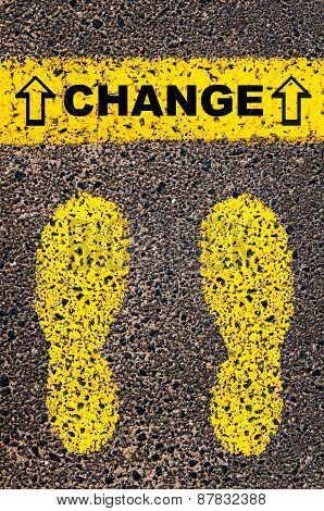 Change Message. Conceptual Image