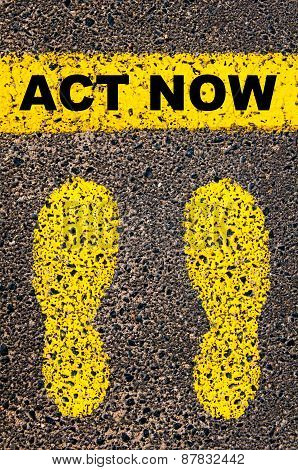 Act Now Message. Conceptual Image