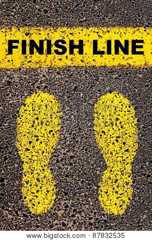 Finish Line Message. Conceptual Image