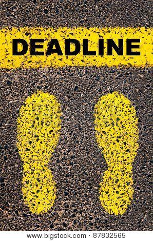 Deadline Message. Conceptual Image