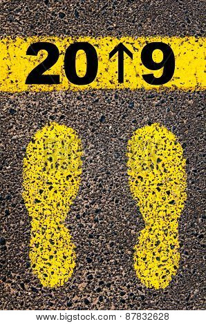 Year 2019  Is Coming Message. Conceptual Image
