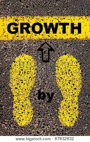 Growth Step By Step. Conceptual Image