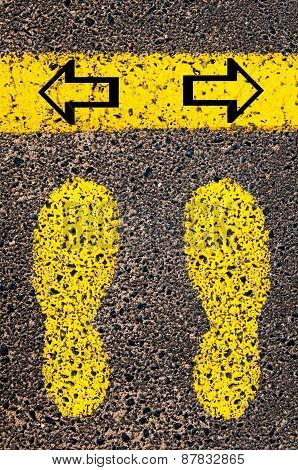 Arrows Left And Right. Indecision Conceptual Image