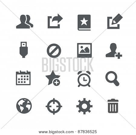 Communication Icons // Apps Interface