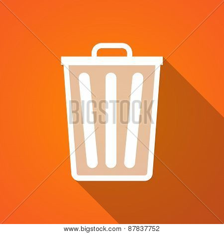Long Shadow Trash Can Icon