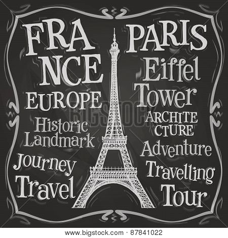 Paris vector logo design template.  France or Eiffel tower icon.