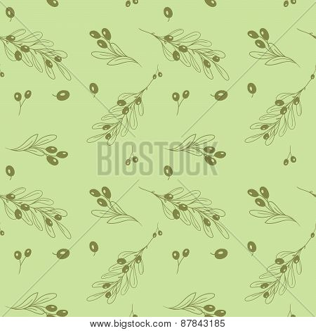 Olive light seamless vector pattern