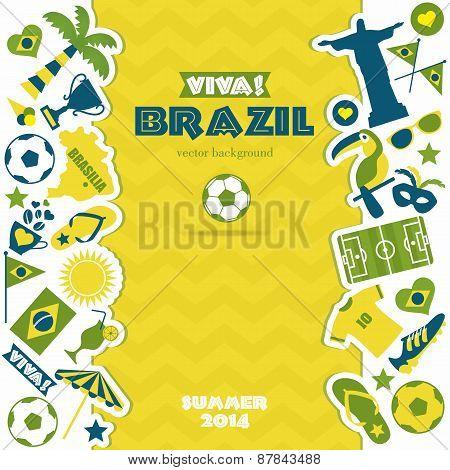 Brazil icons set.