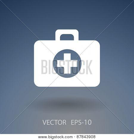 Flat icon of ambulanse