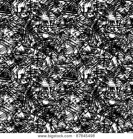 Doodle Seamless Pencil Scribble Pattern-model For Design Of Gift Packs, Patterns Fabric, Wallpaper,