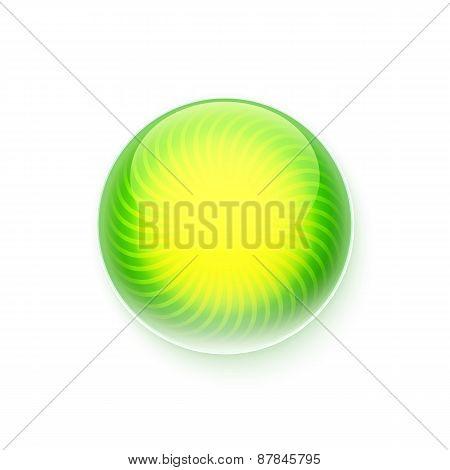 Sunny Green Button