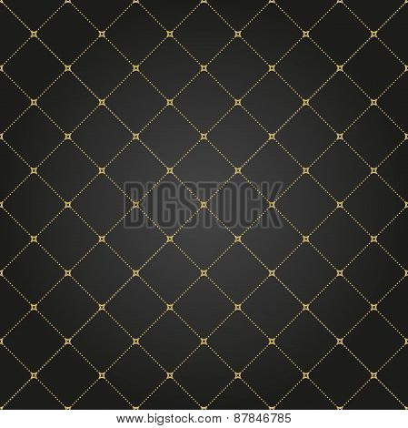 Geometric Modern  Seamless Pattern with Golden Dots