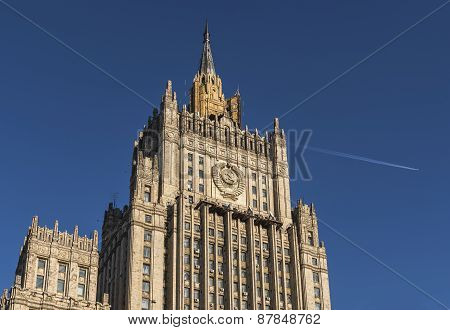 The building of the Ministry of Foreign Affairs of Russia.
