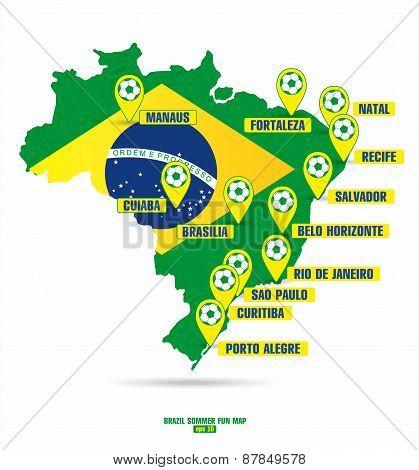 Brazil map of soccer
