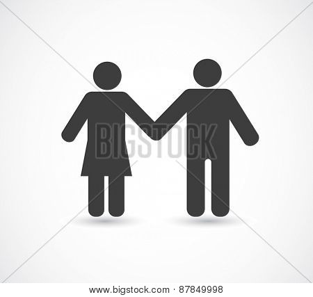 man and woman black icon