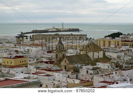 Historical Centre Of Cadiz And Castillo De San Sebastian